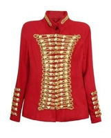 2014 autumn and winter uniforms Christmas red star Jackson mounted stage performances woolen jacket women short paragraph