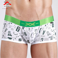 3 Pcs/Lot XUBA High quality Men's boxers ice silk printing letters breathable low-waist mens underwear Boxer Short Free shipping