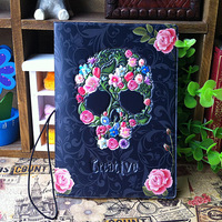 Fashionable 3D stereoscopic Skull Rose passport holder identity card protective sleeve cover Travel Abroad essential