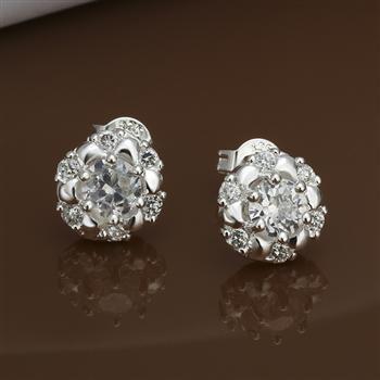 Newfree 925 серебро ювелирные изделия серьги 925 серебро серьги E435