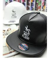 Spring and autumn men and women Letters leather snapback baseball hats ,unisex tide hip hop caps