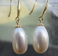 beautiful AAA+ southsea  white  pearl dangleearring 14K not include necklace!