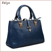 New 2014 Fashion Luxury Women Handbag Crocodile Pattern Genuine Leather Women Messenger Bags Drop Shipping FG3103