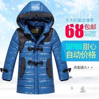 Child down coat child clothing boys winter jacket medium-long thickening casual winter jacket for boy