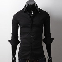 Free Shipping  New Mens Luxury Casual Slim Fit Stylish Dress Shirts 2 Colors        3257 NP