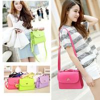 Hot!Brand New Sweet women's bag Shoulder Bag Candy Color Twist Lock Fashion cross body Messenger Bag bolsas femininas 2014