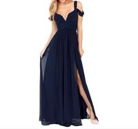 New 2014 long evening dress formal hot&sexy v-neck dress party evening elegant vestido de festa gowns for wedding celebrity
