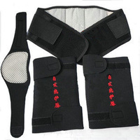 Tourmaline magnetic therapy self-heating waist support belt kneepad neck set flanchard piece set