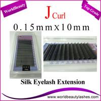 Free shipping 10trays/Lot Silk eyelash extensions 0.15 J 10mm