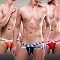 Free Shipping new arrival Unique X-type belt SEEINNER low waist short panties boy boxer modal Men's sexy underwear briefs 809