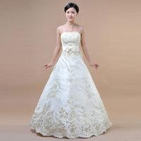 NEWEST   STYLE   train princess wedding dress hsa126