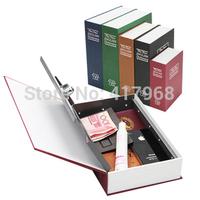 11.4cm*8cm*4.5cm Creative gift Safe English dictionary Tibet Gold Box Book Dictionary Safe Small piggy bank