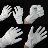 100% cotton white gloves white gloves hip-hop gloves