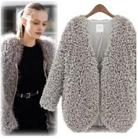 2014 Autumn Winter Fashion Clothing Woolen Women Blazer Warm  Loose Long Sleeve Short Coat Light Weight  Free Shipping