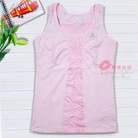 Female sleeveless sports t-shirt spaghetti strap o-neck slim vest fitness yoga vest badminton vest