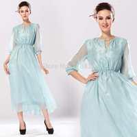 Exclusive high-end custom 2014 Silk dress High Fashion Elegant Sexy  Long Evening Party  Dresses