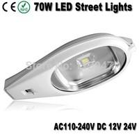 2pcs 70W led street lamp AC85-265V DC24V/12V 7000lm 70W outdoor led street light available for solar system