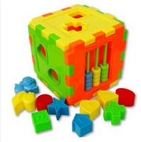 The new square-shaped brain shape intelligence box manually pairing multifunction wholesale toy building blocks