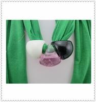 2014 New Ladies Green Color Tassel Cashmere Scarf Women Bufanda