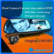 Newest 4.3'' 1080P Blue Mirror G20 Car Rear View Mirrors DVR Camera Dual Car DVR Camcorder Reversing Camera With GPS Logger(China (Mainland))