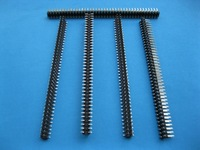 15 Pcs Gold Plated SMT SMD 2.54mm 2x40 80pin Breakable Male Pin Header Connector Double Row Strip