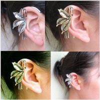 #268 2014 Fashion Vintage Personality Leaf Ear Cuff Ear Clip Cheap Women Jewelry Wholesale 24pcs/lot