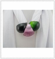 Big Glass Bead Neck Magic Long Warmer Scarf For Gift Fashion