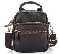 Small bags new 2014 arrival mini man genuine leather bag, waist pack, multifunctional shoulder bag, totes