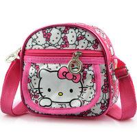 2014 New Design Casual Messenger Bags Cartoon Satchel For Children Girls Hello kitty Shoulder Bag Cute Schoolbag