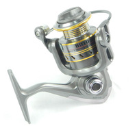 2014 3 BB 3BB High Power Gear Spinning fishing reels Spool Aluminum Fishing Reel Metal wire cup HD10 1000 Fshing reels