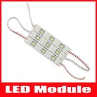 100PCS Led Module 5630 Injection SMD 3 Leds Waterproof IP65 DC12V Cool White 7000-8000K LED Light Module ,Free Shipping