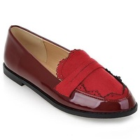 New 2014 Plus Size Slip-on Women Casual Flat Shoes Fashion British Style Oxford Shoes for Women Comfortable Ladies Loafers