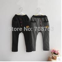 5pcs/lot ,Children Clothing Warm Thick Pants Girls Boys Harem Pants Sport Trousers For 3-7 Year Kids, Free Shipping J228