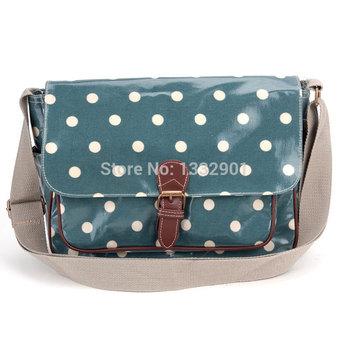 Oilcloth Polka Dots Crossbody Saddle Bag Satchel Shoulder Messenger 12