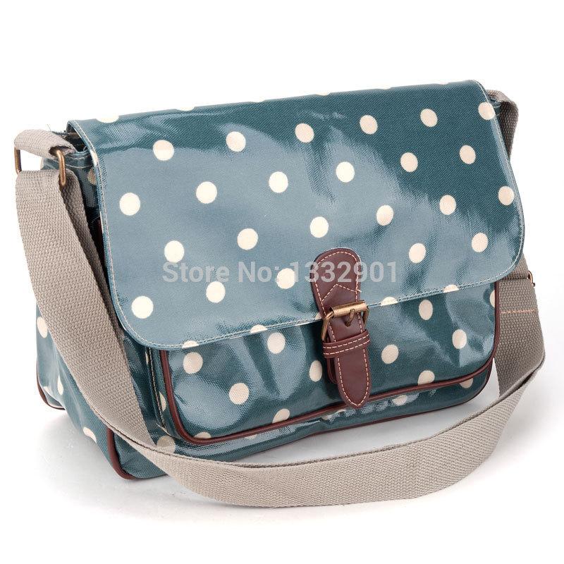 Oilcloth Polka Dots Crossbody Saddle Bag Satchel Shoulder Messenger 5