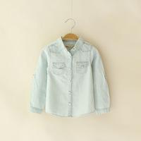 Foreign trade of the original single children's clothing Boys denim shirt long-sleeved shirt for children