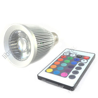 1pcs E27 10W RGB LED Lamp Memory Function Spotlight Bulb +16 Colors Remote Control  85-265V-T