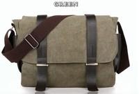 2014 new Korean style fashion casual men's canvas shoulder bag belt decorated messager bag wholesale