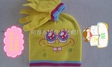 SpongeBob SquarePants hat gloves set of two(China (Mainland))