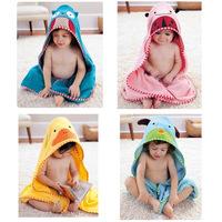 2014 New Designs Hooded Animal Towel Baby Bathrobe Cartoon Baby Towels Kids Bathrobe Infant Bath Towel Fashion cloth toalha