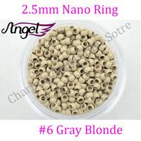1 jar 1000pcs #gray blonde 2.5mm Copper Nano micro beads/rings/links RInglets for Pre Bonded Nano Tip Tipped