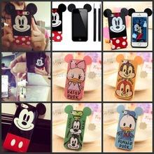 Para o caso iphone 4 4s mickey Minnie Mouse casos telefone borracha defensor cobrir iphone4 frete grátis maçã(China (Mainland))