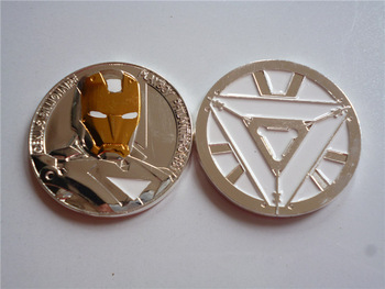 The USA Iron Man silver plated