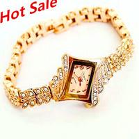 2014 relogio feminino Brand King Girl Women Watches Fashion Rose Gold women dress watches Casual Rhinestone Quartz Wristwatches