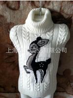 Children's sweater sweater. Baby boy girl turtleneck cartoon knitwear