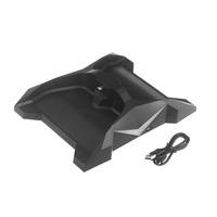 Dual Charging Charger Stand Dock Station Holder Flash 7 Color LED for Xbox One Controller Black