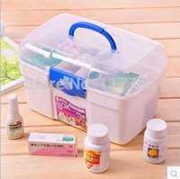 family medicine cabinet multilayer medical cases of medical kit drug plastic portable first-aid kit children