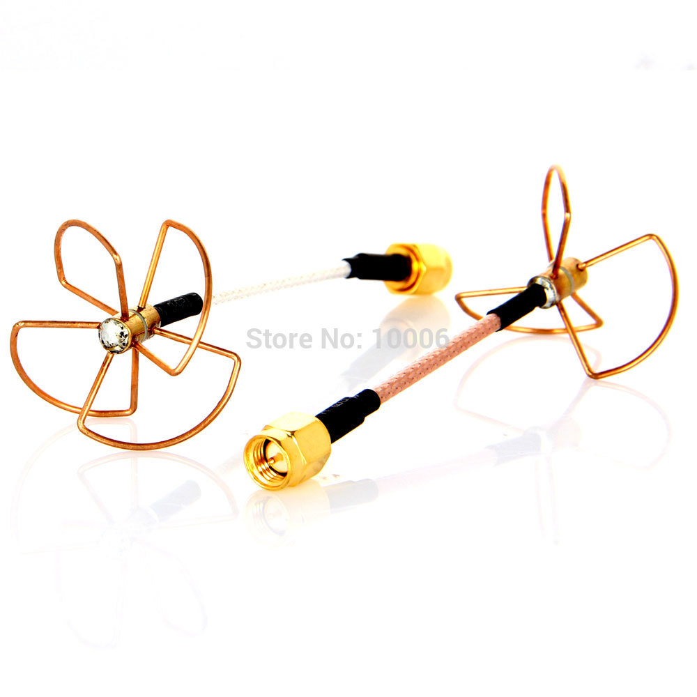 High Quality FPV Clover Leaf Omni-Directional Circular Polarized 5.8 GHz Video/Audio Antenna Promotion#200384(Hong Kong)