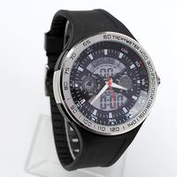 Fashion  Multi-functional Men Sports Watches Cool Dual Display Analog Digital Wristwatch Chronograph Rubber Clock Relojes NW707