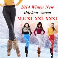 M L XL XXL XXXL size women pants 2014 new plus size thick warm cotton down winter womens pants boot cut waterproof  trousers